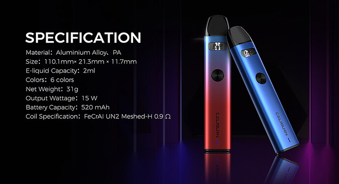 Uwell_Caliburn_A2_Kit_specification