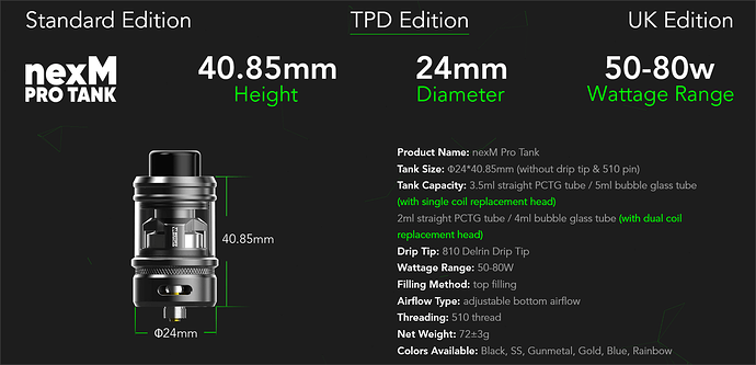 TPD Edition Specs