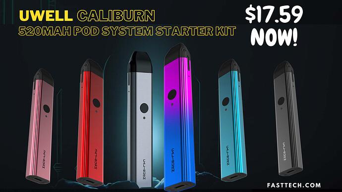 Caliburn 520mAh Pod System Starter Kit